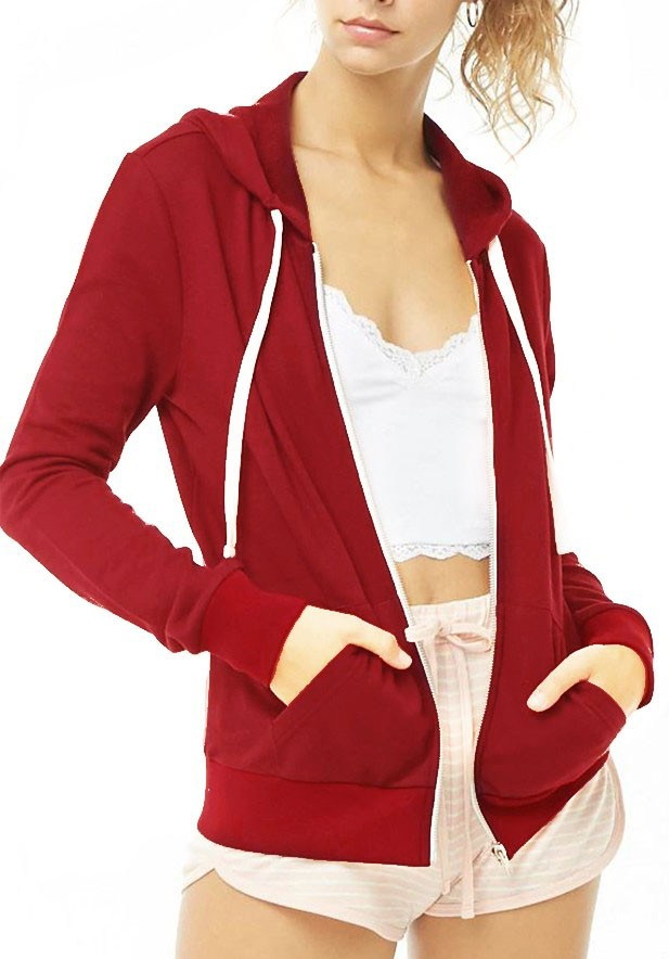 French Terry Front Zip Hoodie