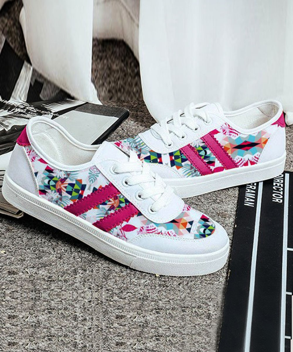 Lets Walk About Love Sneakers Pink