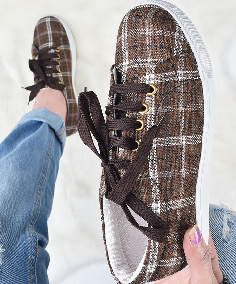 Plaid for summers sneakers