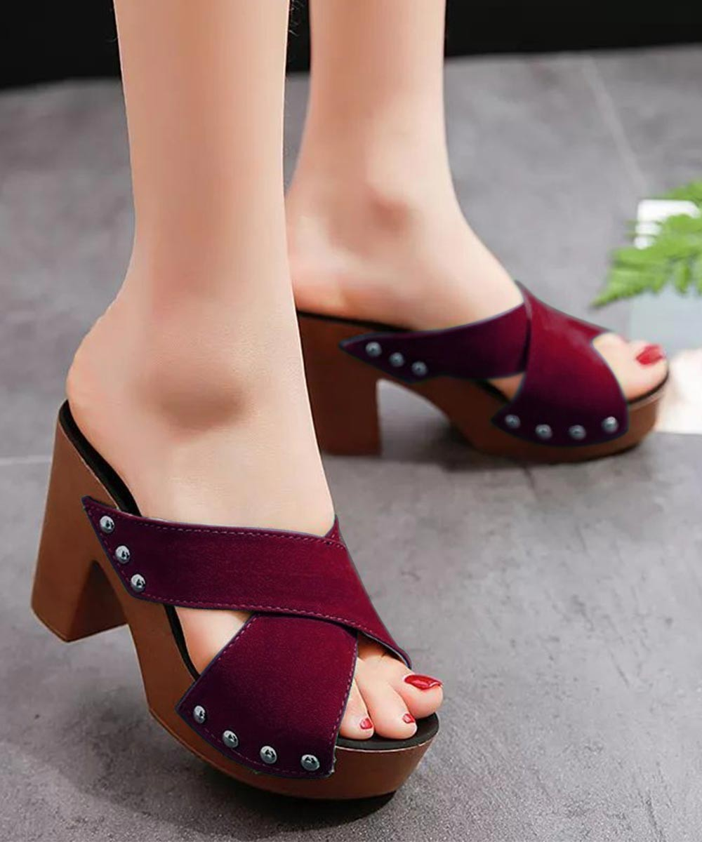 Care for you heels Marsala
