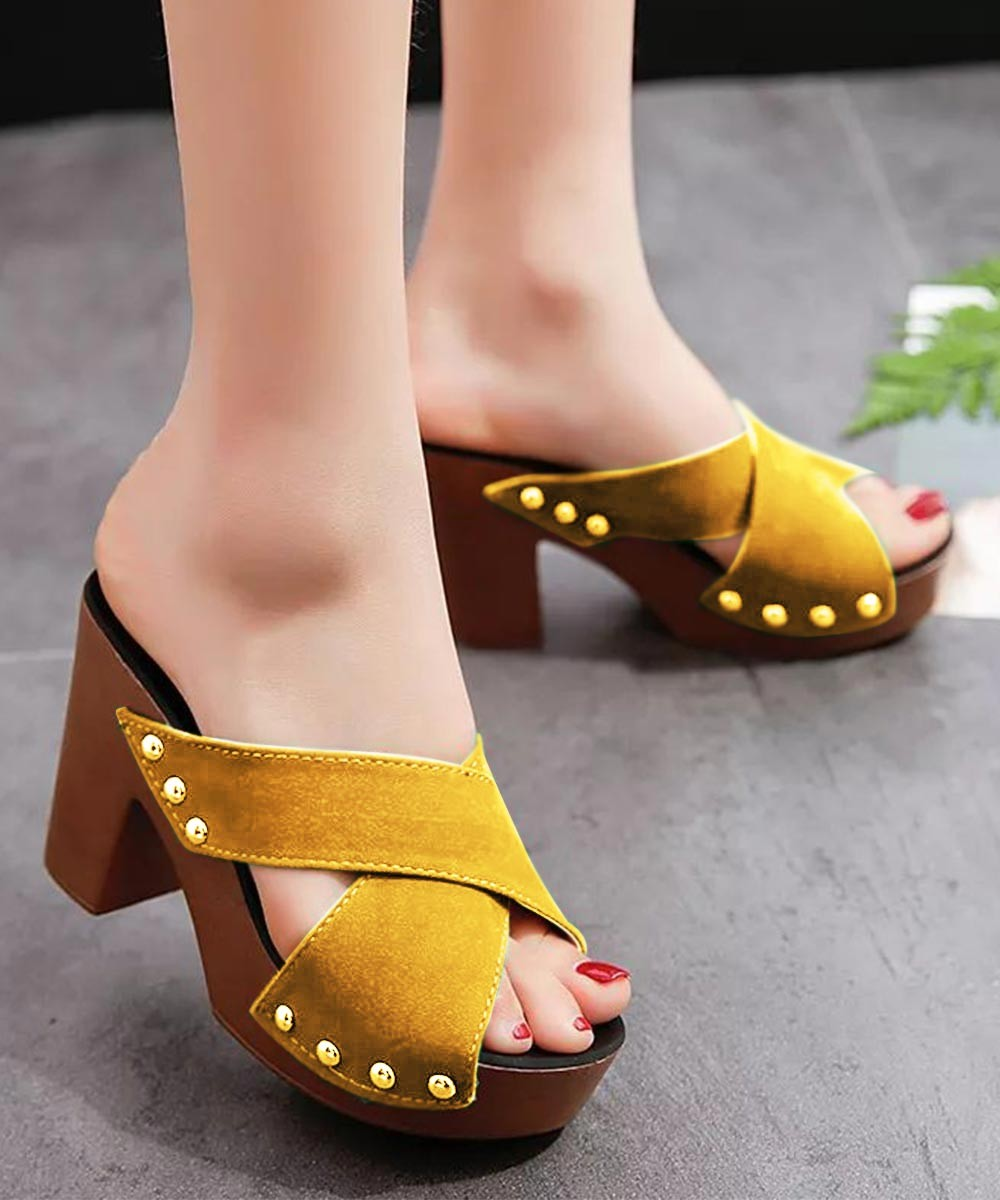Care for you heels Mustard