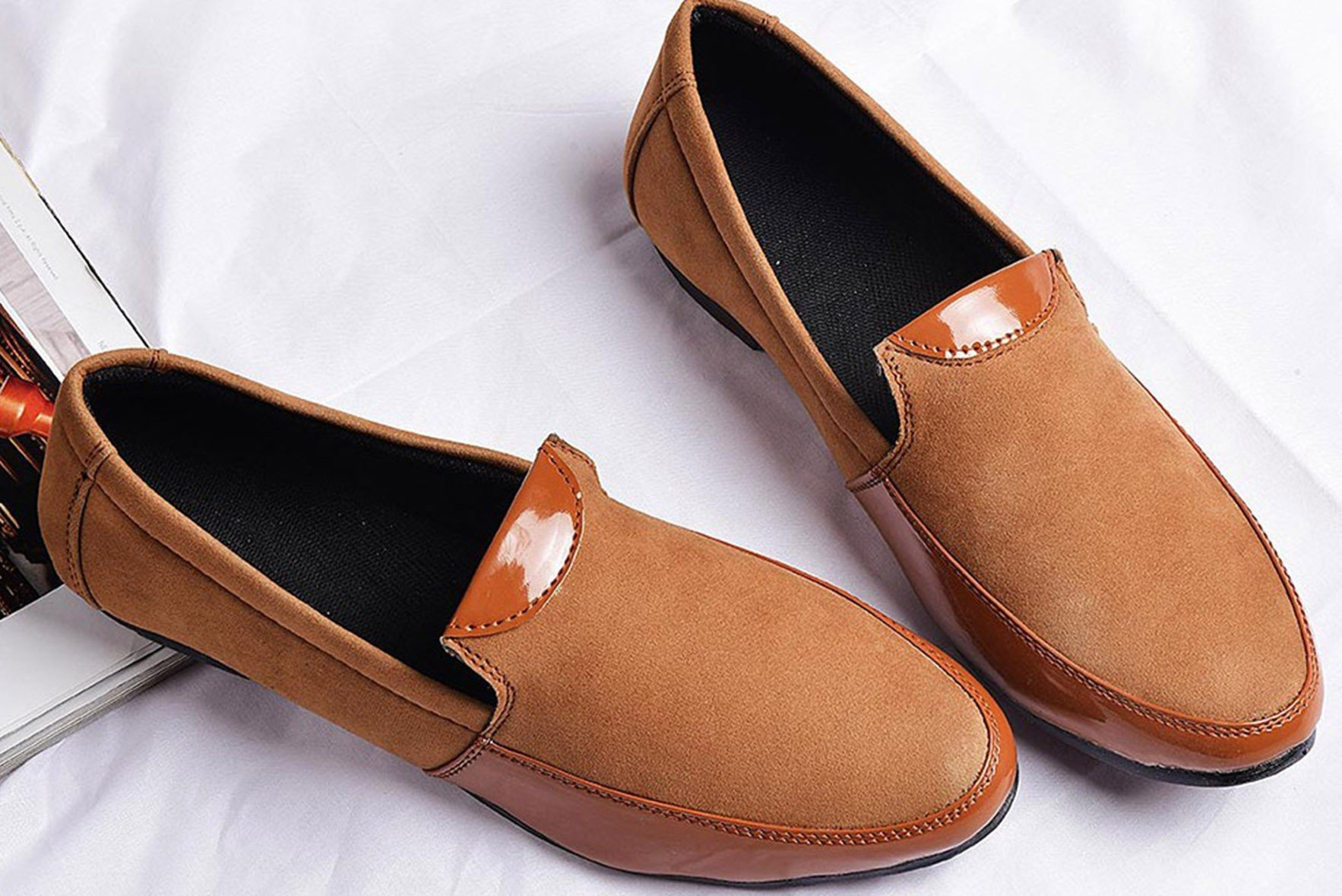 Mens - Brown suede loafers
