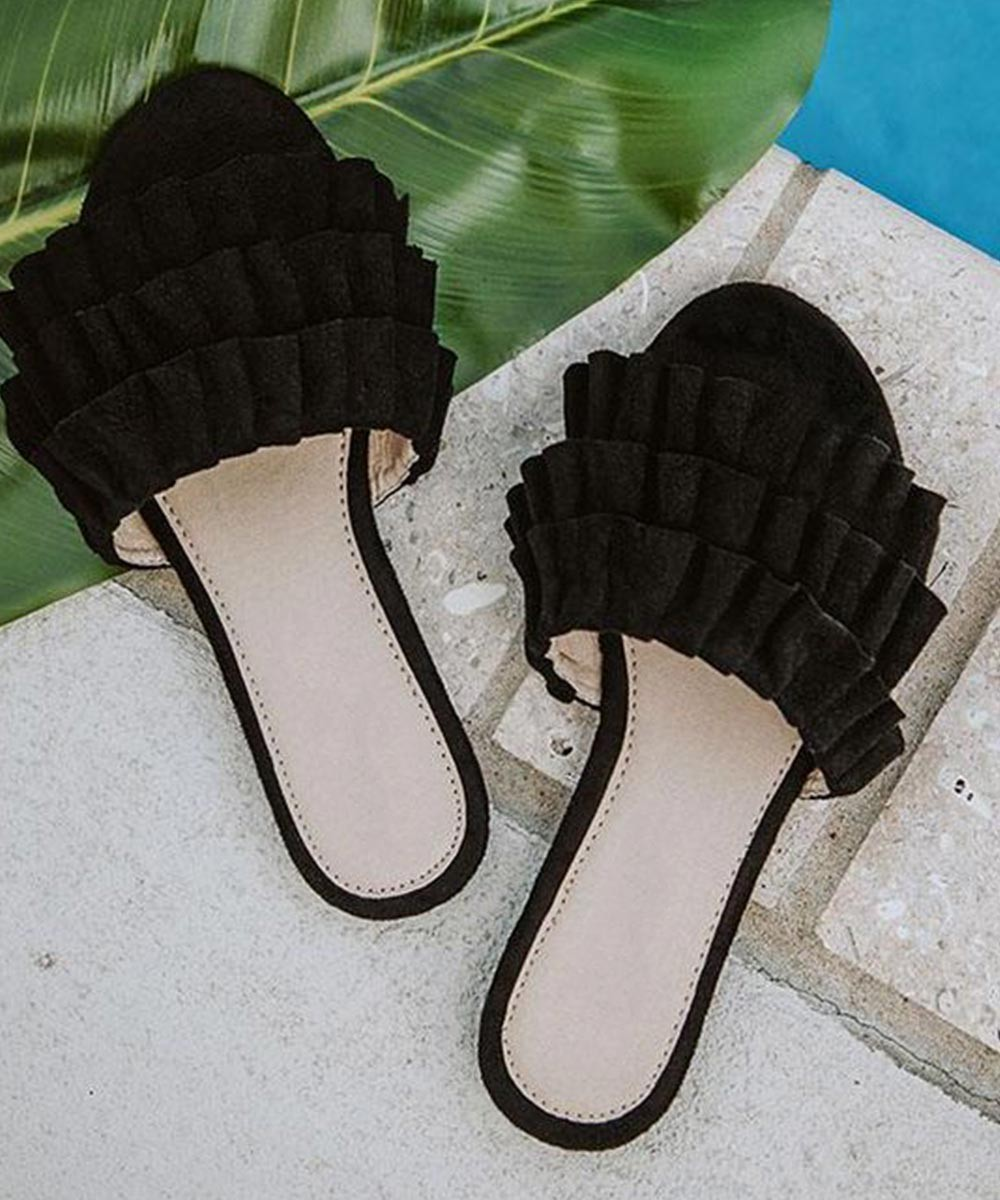 Ruffle up your toes flats