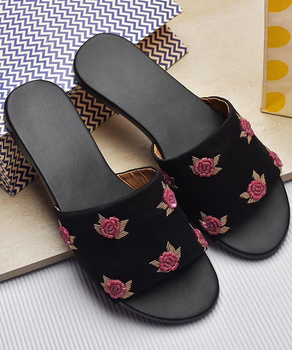 Host a tea party embroidered flats