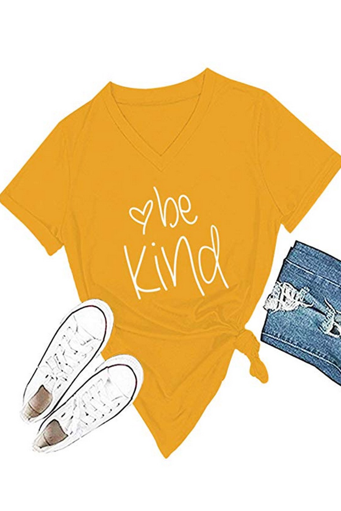 Be kind yellow tee