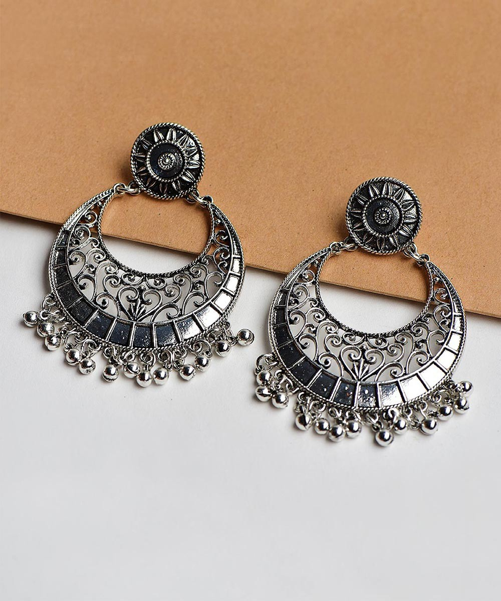 Simply Rounded Silver Earrings