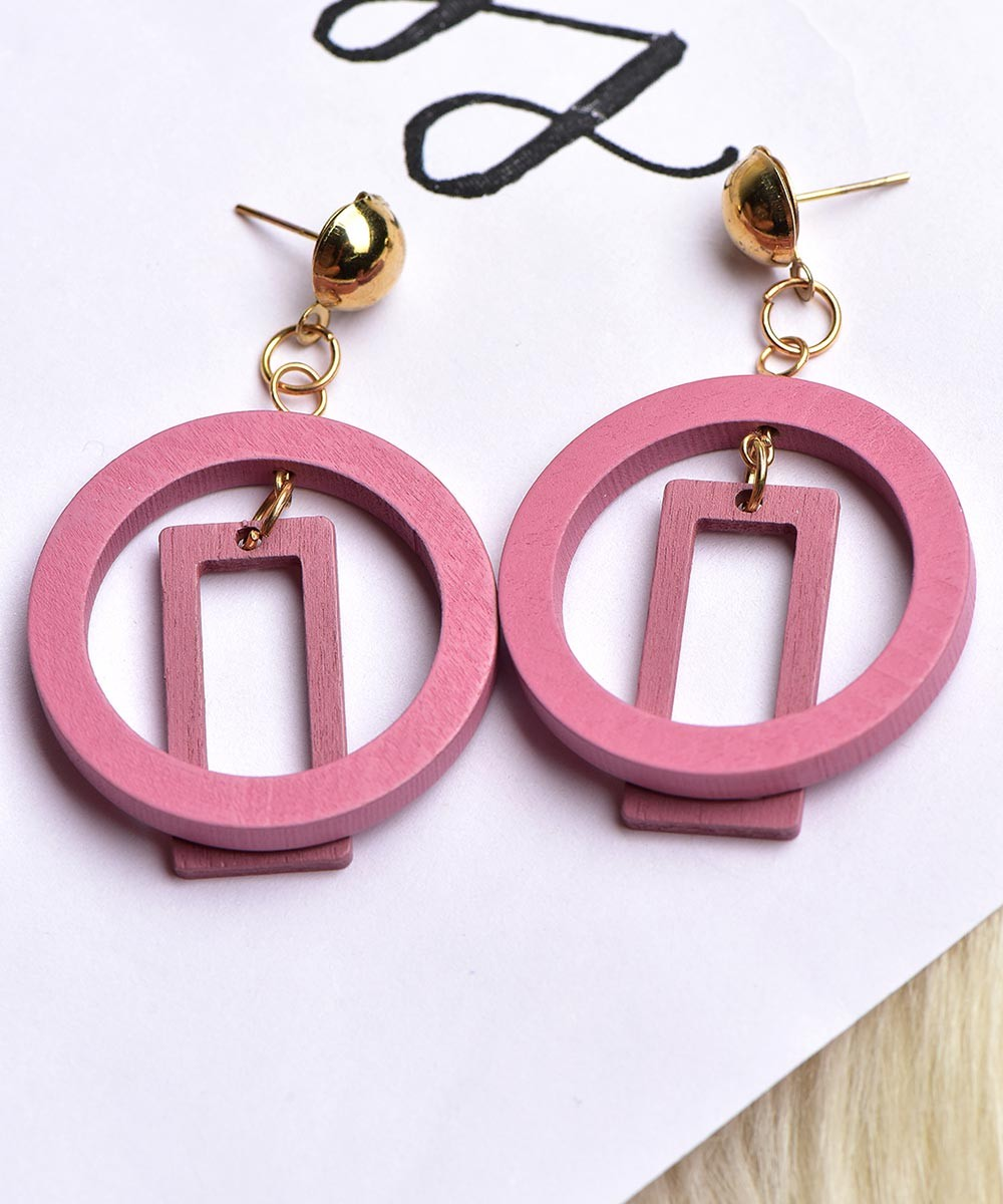 Let's Meet Up Earrings Pink