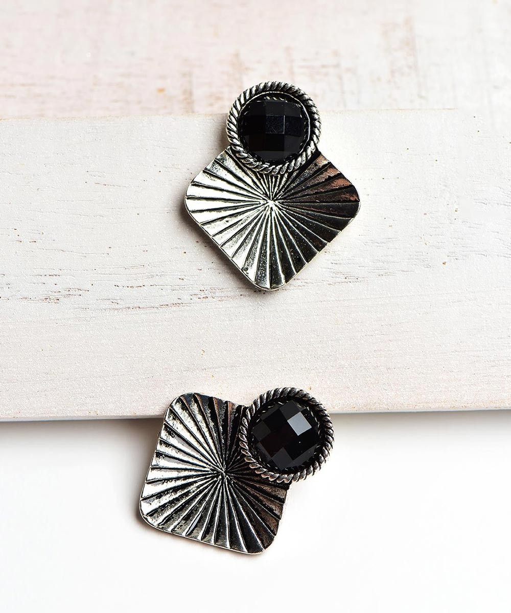 Egyptian inspired silver studs