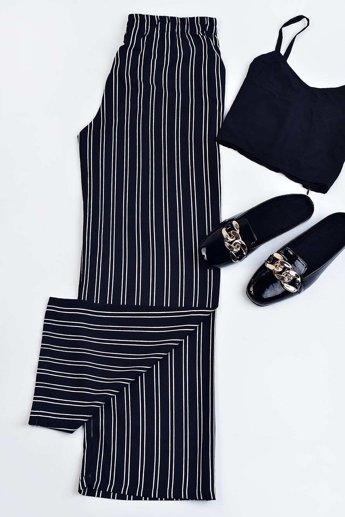 Set- Black top with Style Way Trouser