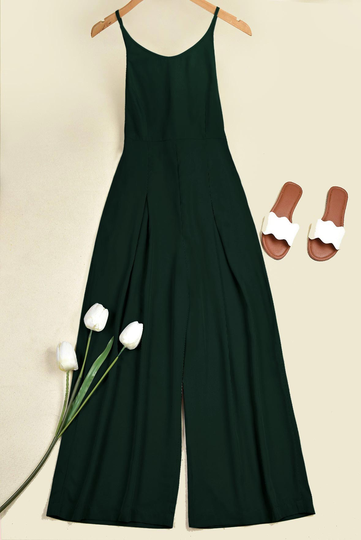 Star on the Rise Jumpsuit Dark green