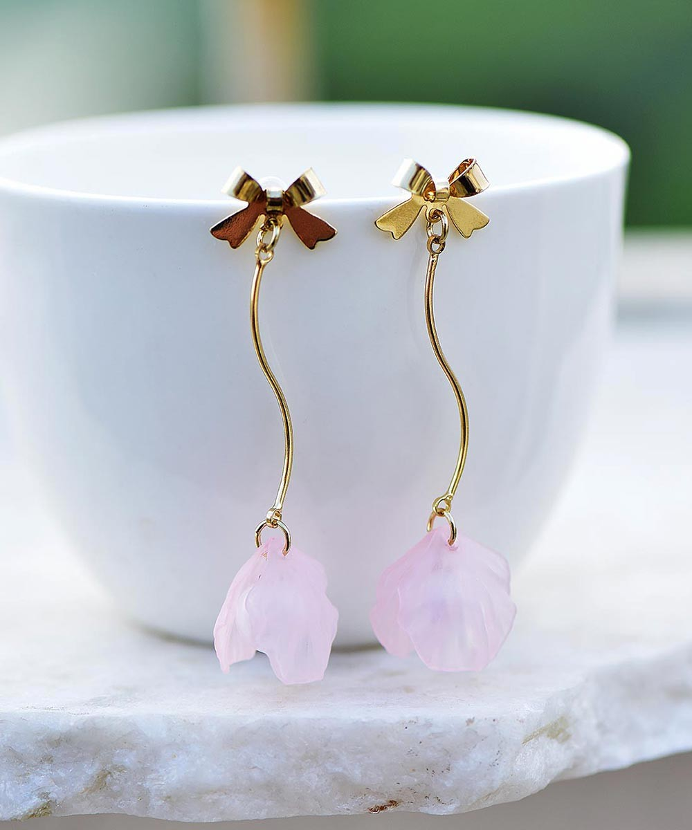 Stay pearly earrings pink