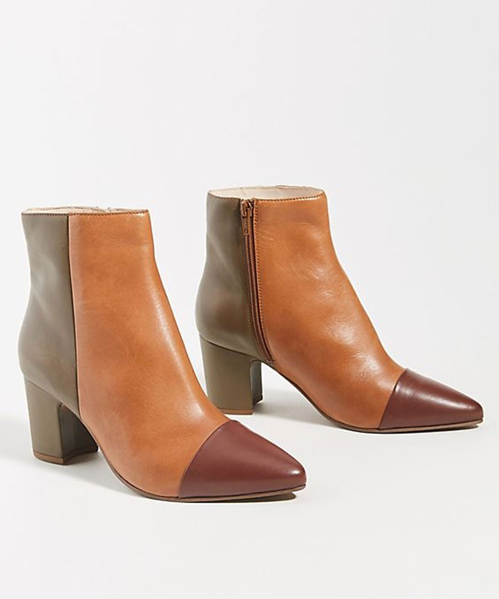Earthy tone ankle boots