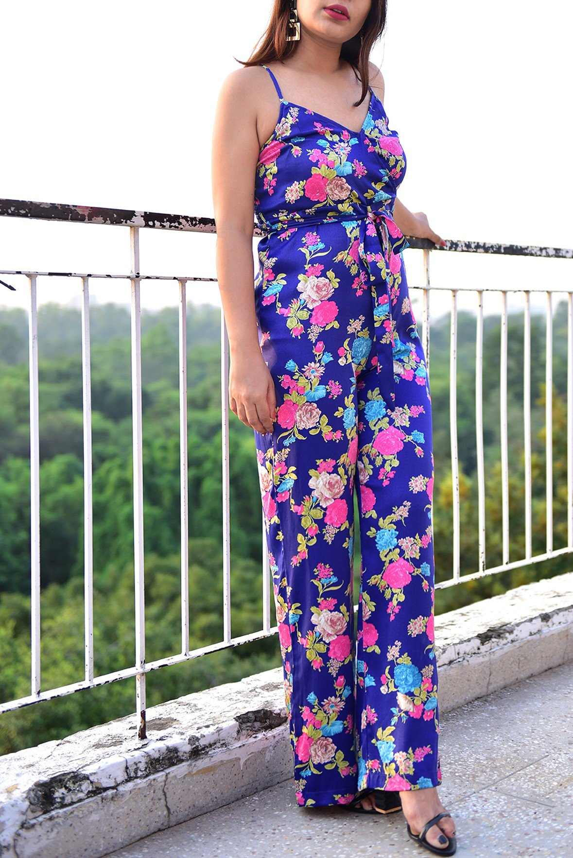 Early morning floral jumpsuit