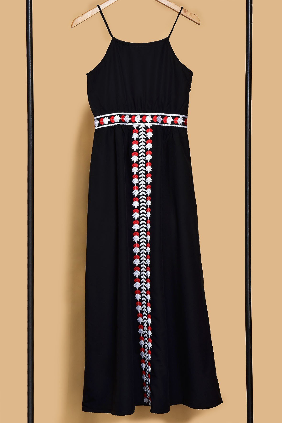 Black spell embroidered dress