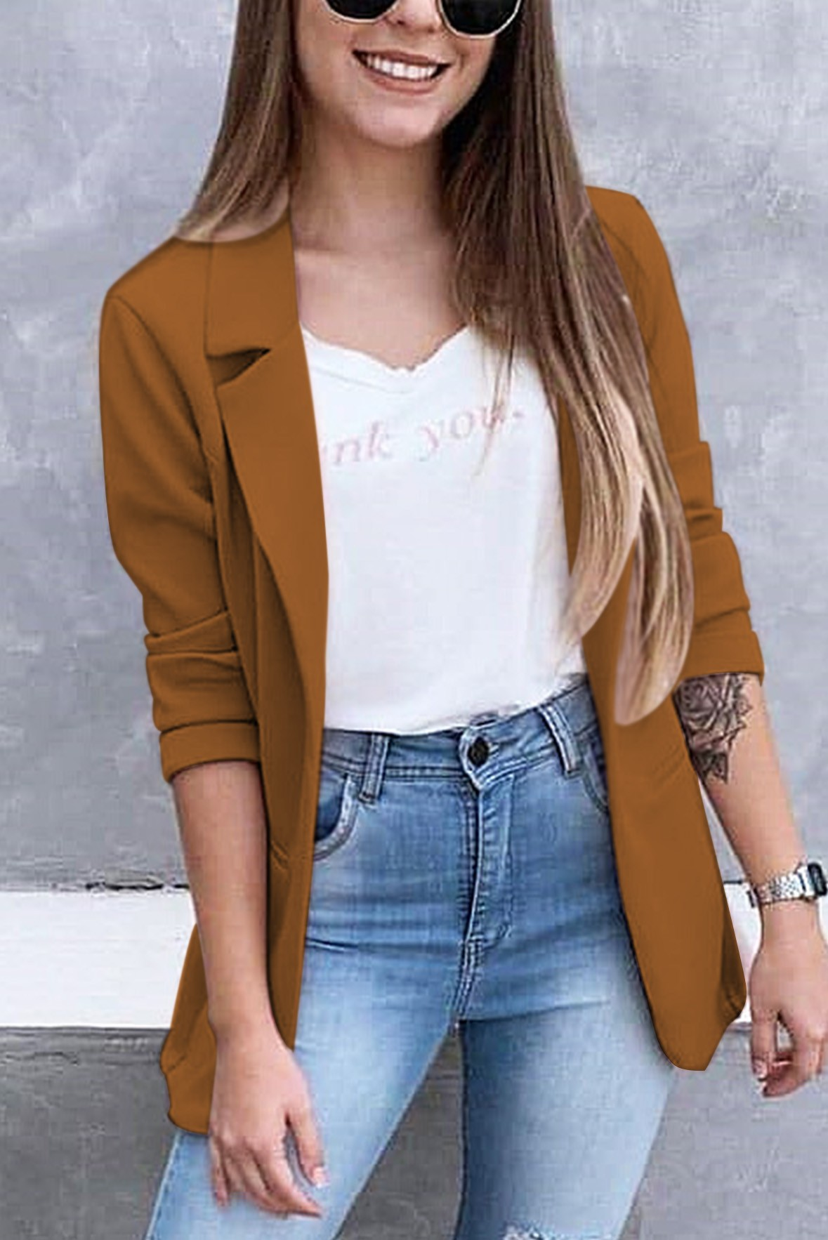 The streets in summer blazer brown