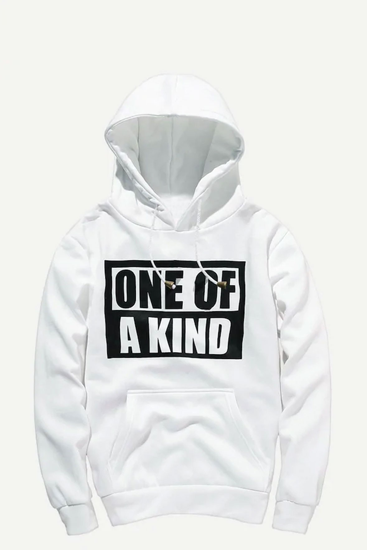 One of a kind white hoodie