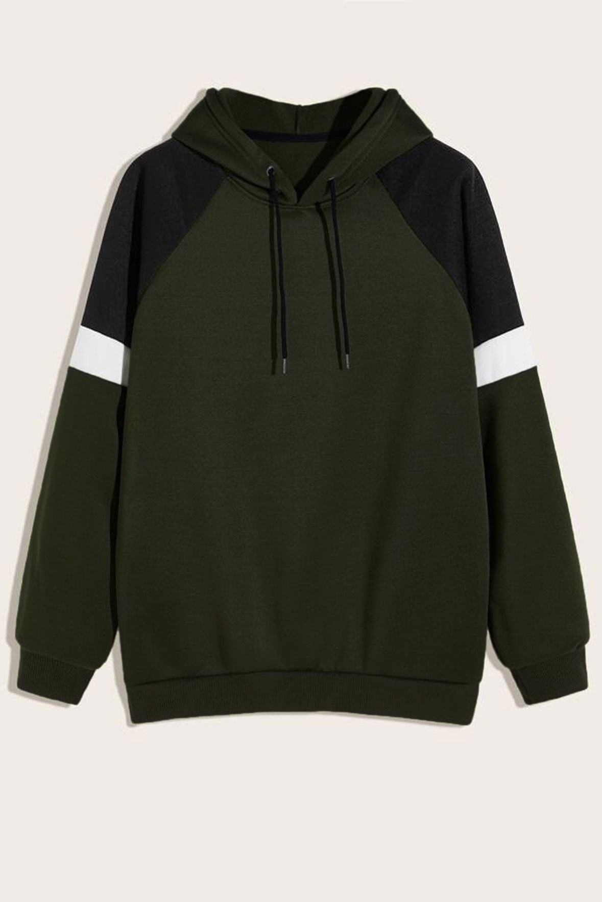 Women's Black green and white Hoodie