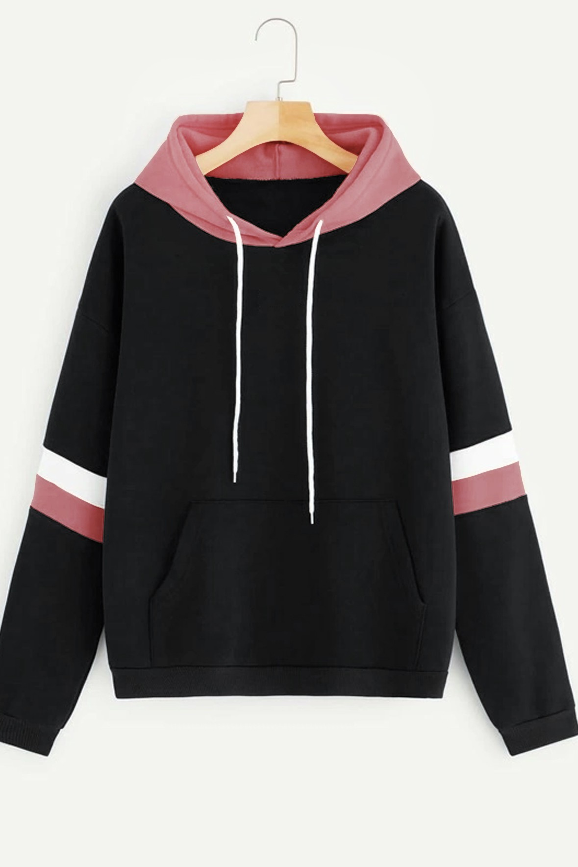Contrast Striped Hoodie
