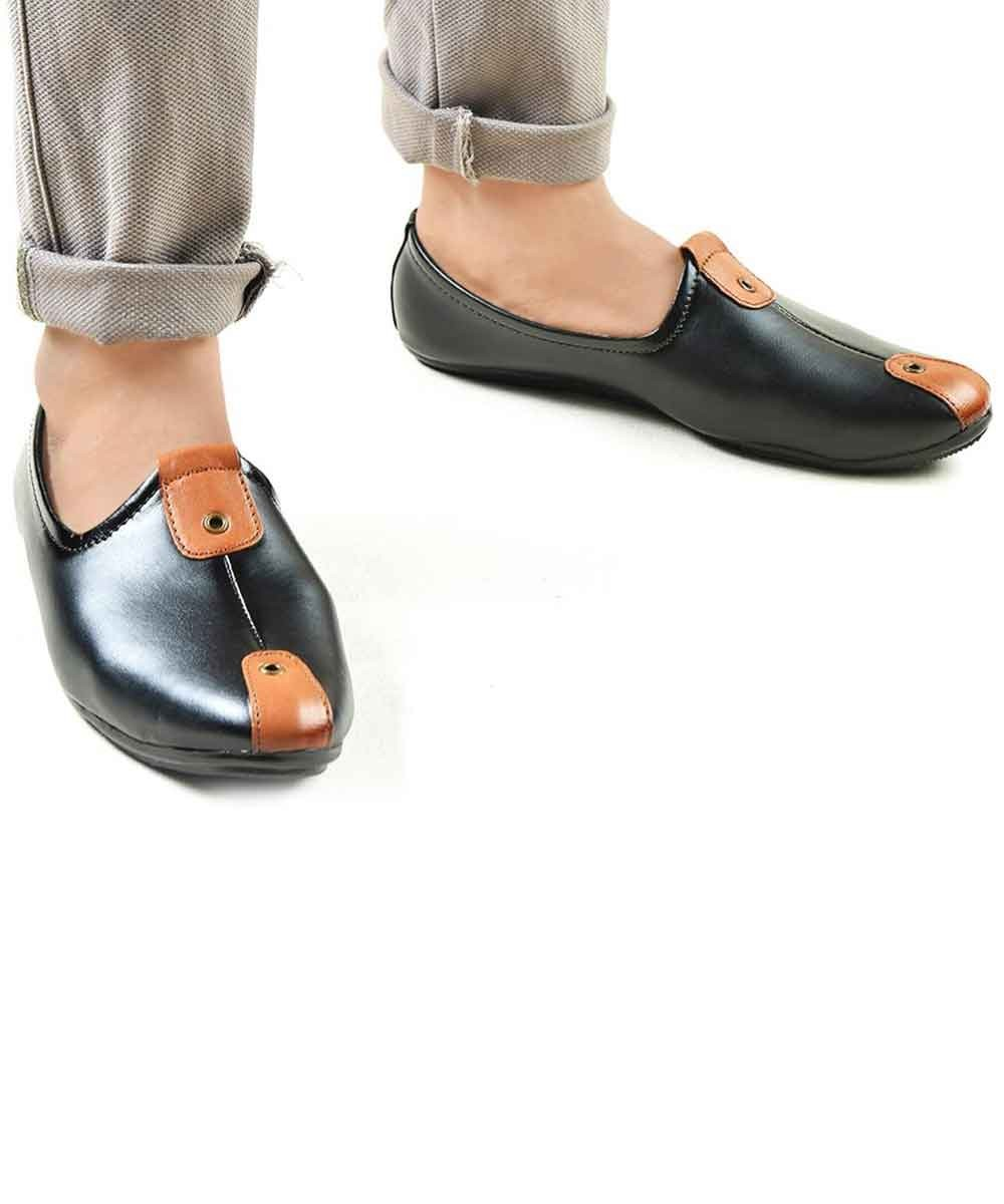 Black with brown twist shoes