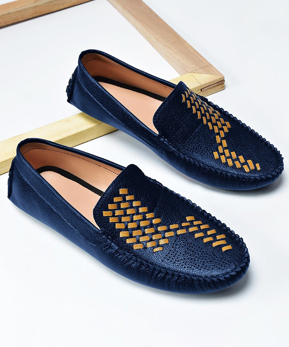 Nothing hull men's loafers blue