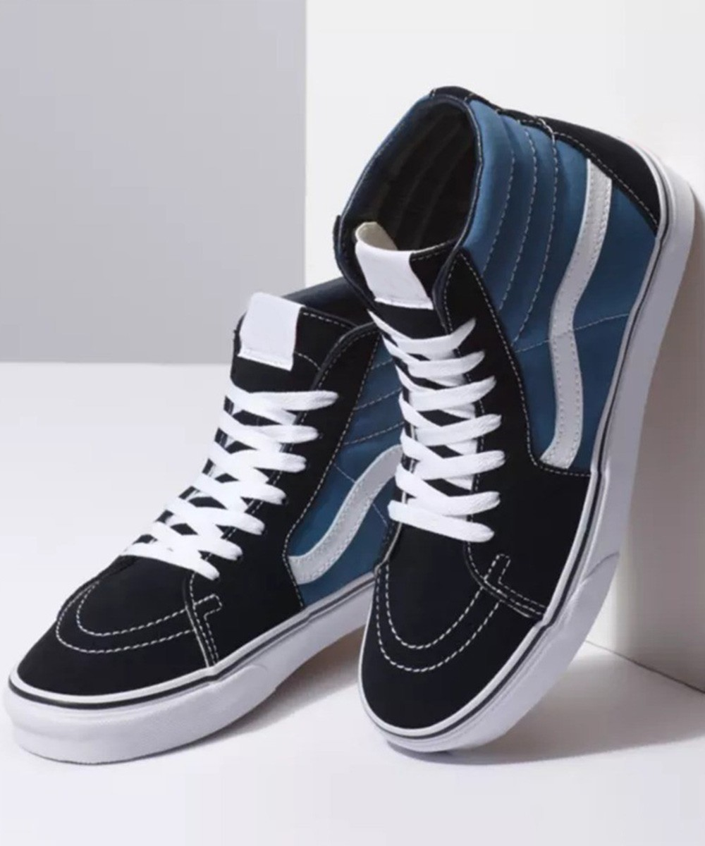 Color block high ankle sneakers
