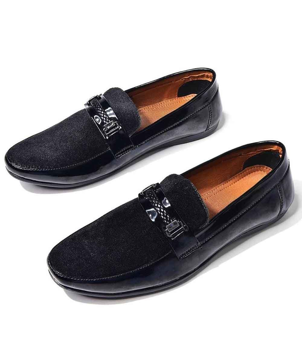 Black classic loafers