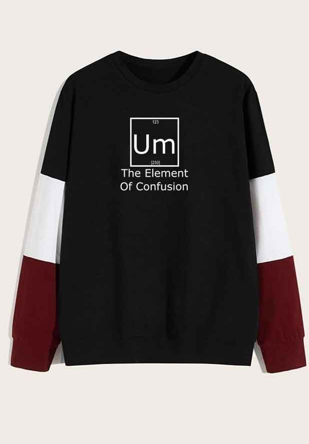 Men's The element of confusion hoodie Black