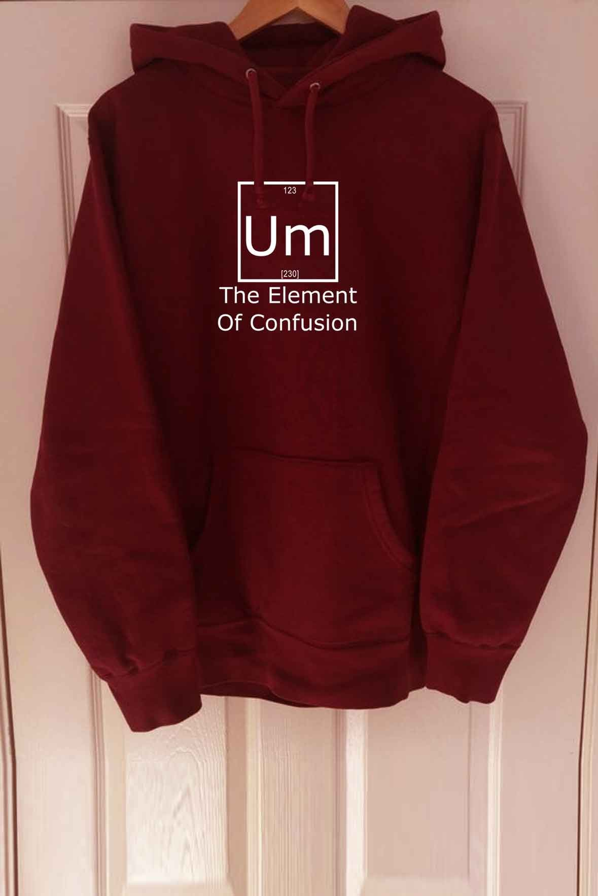 Men's The element of confusion hoodie Marsala