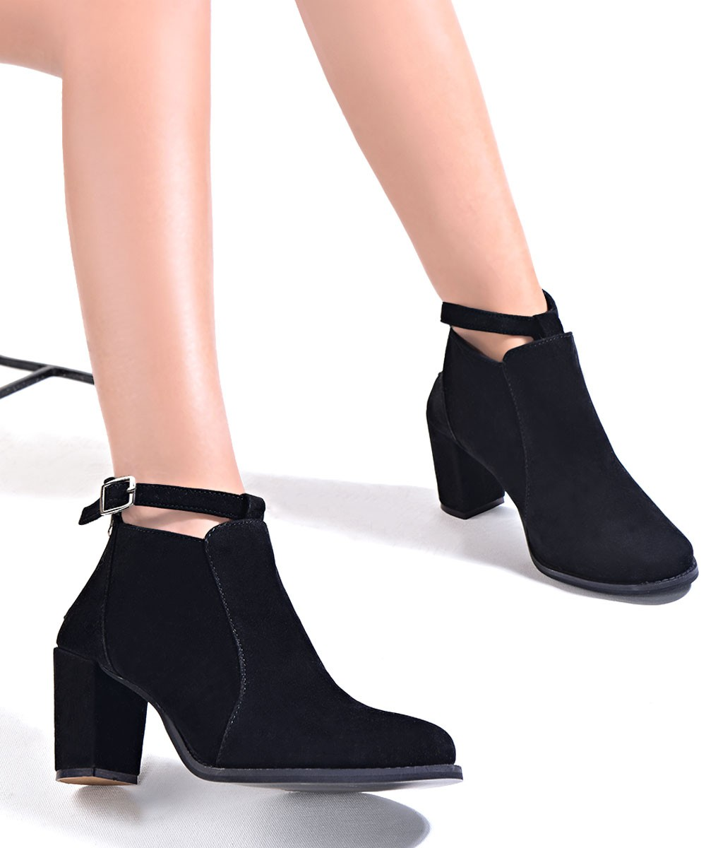 Stay stylish black ankle boots