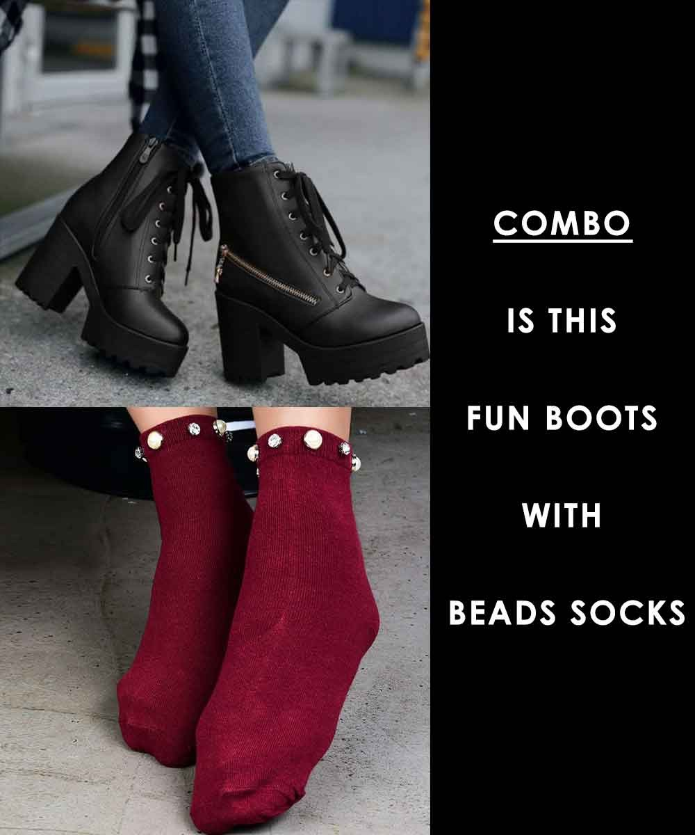 Combo - Is this fun boots with Beads Socks
