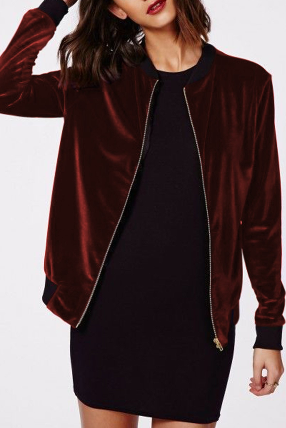 Life of the Party Jacket Marsala