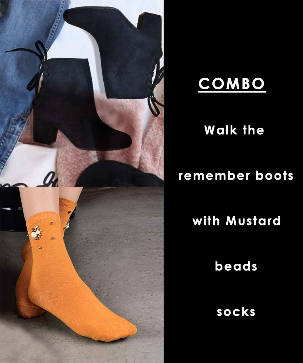 Combo - Walk to remember boots with mustard socks