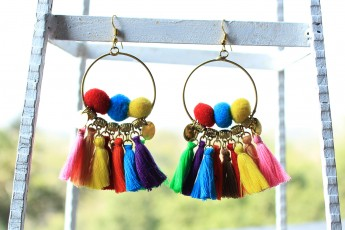 Lovely colours earrings