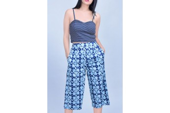 Set- Sleeveless top with ethic printed trouser